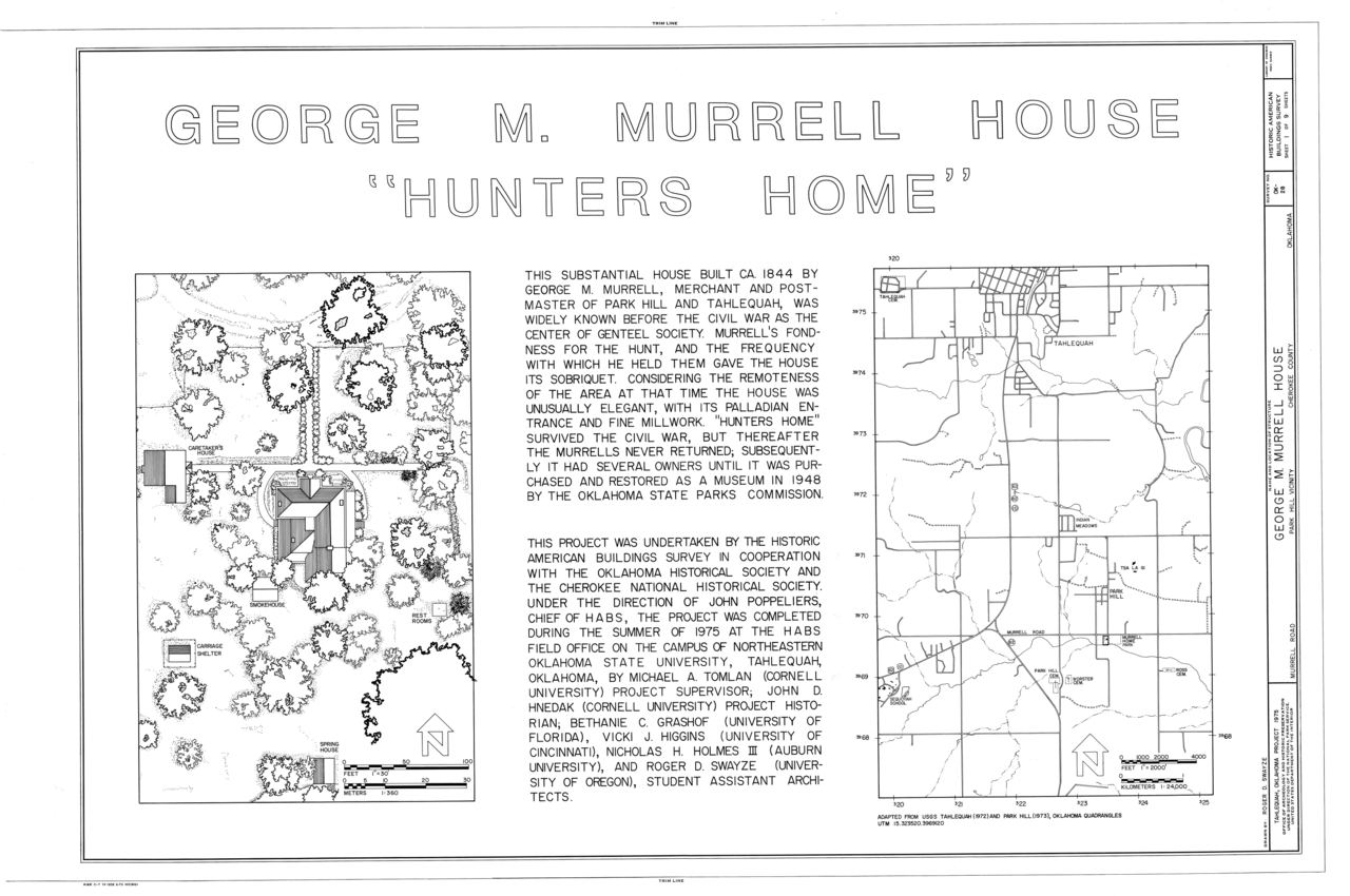 FileGeorge M Murrell House Road At Junction Of Willis Park Hill Cherokee County OK HABS OKLA11 PARHIV2 Sheet 1 9