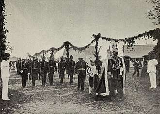 Kingdom of Tonga (1900–70) - Image: George Tupou II going to the Opening of Tongan Parliament in 1900