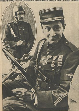 Croix de guerre 1914–1918 (France) - Fighter ace captain Georges Guynemer, a recipient of the 1914-18 Croix de guerre with 26 citations