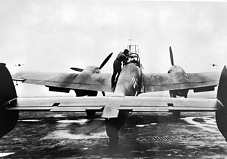 Messerschmitt Bf 110 - Preparing for takeoff, 1940