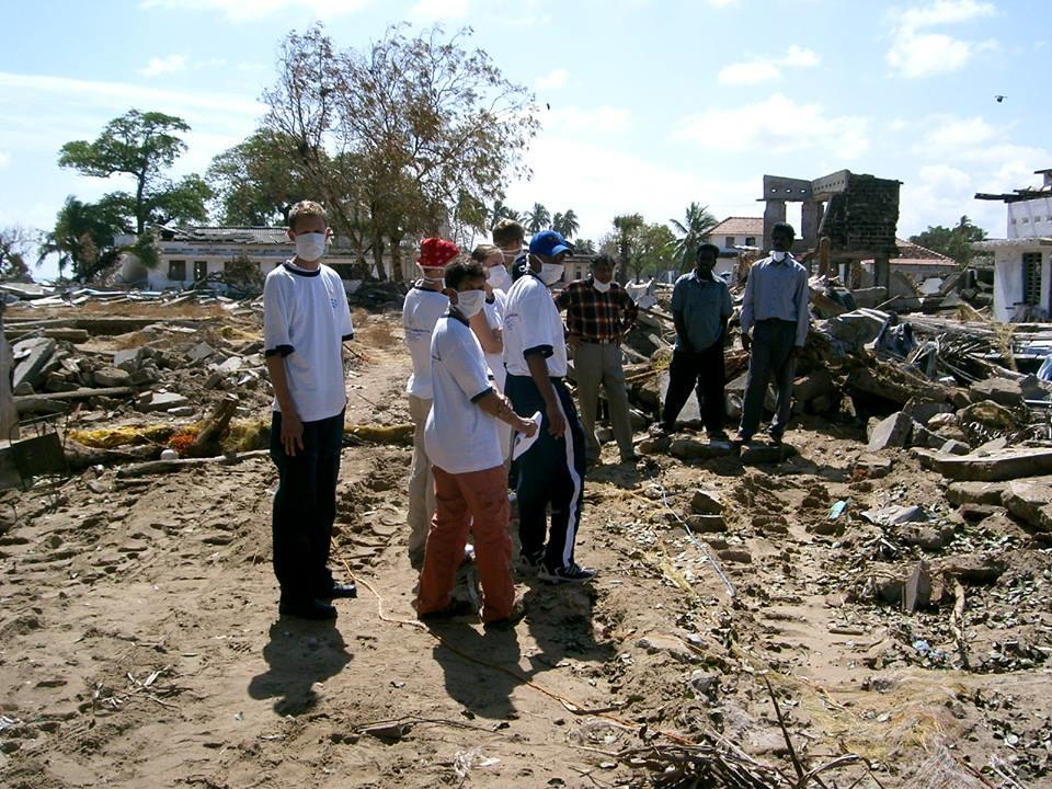 German Tsunami Relief Mission Team in Mullaitivu