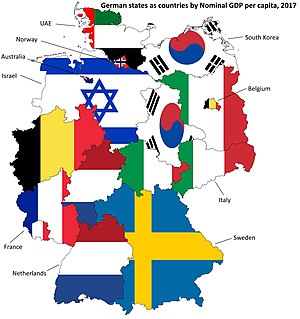 Map Of Germany With States.List Of German States By Grp Per Capita Wikipedia