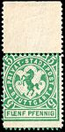 Germany Stuttgart 1886 local stamp 5pf - 4 unused top.jpg