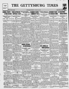 Gettysburg Times Jan 4 1923 front page.png