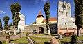Ghimbav - ansamblul bisericii evanghelice fortificate - vedere dinspre latura estică.jpg