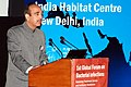 """Ghulam Nabi Azad delivering the inaugural address at the """"1st Global Forum on Bacterial Infections Balancing Treatment, Access and Antibiotic Resistance"""", in New Delhi on October 03, 2011.jpg"""