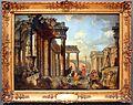 Giovanni paolo pannini, rovine romane con un predicatore.JPG