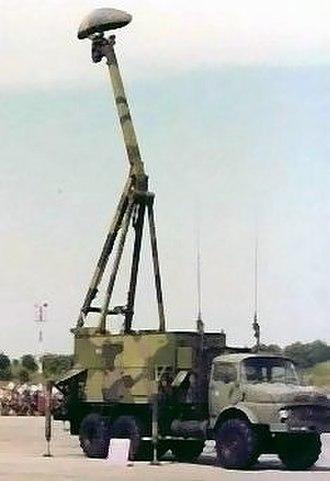 Giraffe radar - 1988, a Republic of Singapore Air Force's Giraffe S 3D radar on display at Paya Lebar Air Base.