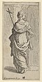 Girl carrying a crucifix and stepping toward a pilaster, seen from behind MET DP837814.jpg