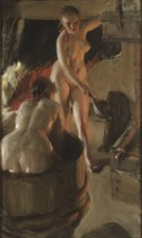 Girls from Dalarna Having a Bath (Anders Zorn) - Nationalmuseum - 18642.tif