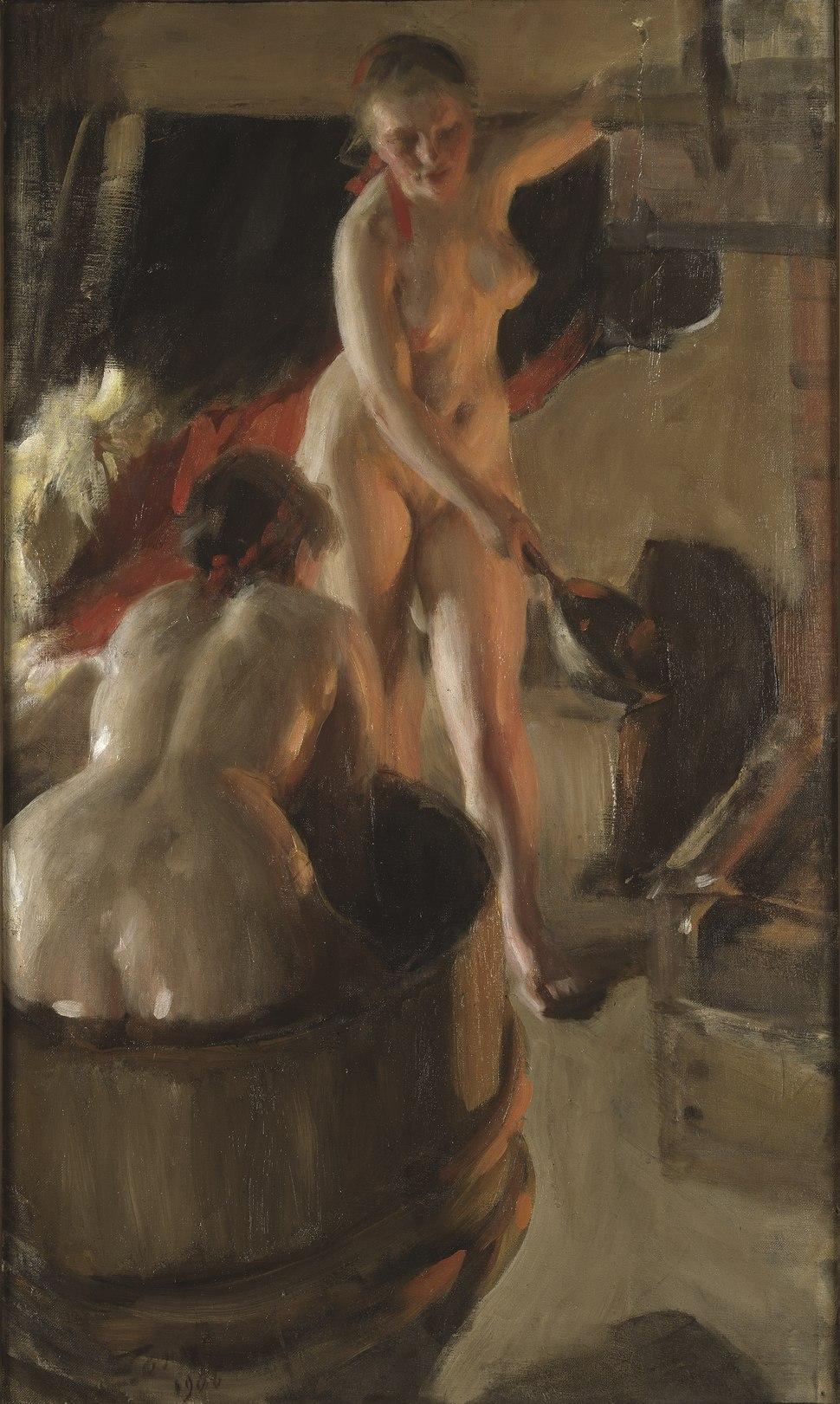 Girls from Dalarna Having a Bath (Anders Zorn) - Nationalmuseum - 18642