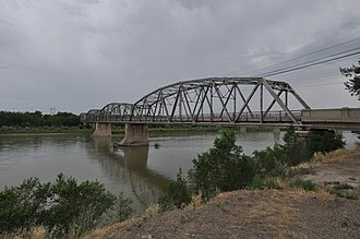 National Register of Historic Places listings in Dawson County, Montana - Image: Glendive MT Bell Street Bridge