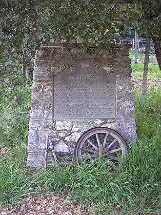 California Historical Landmarks in Santa Cruz County, California - Image: Glenwood 1