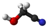 Ball and stick model of glycolonitrile