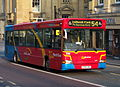 Go North East bus 8169 Dennis Dart SPD Plaxton Pointer S369 ONL in Newcastle 3 April 2009.JPG