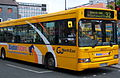 Go North East bus 8223 Dennis Dart SPD Plaxton Pointer X223 FBB Blaydon Racers livery in Newcastle 9 May 2009.jpg