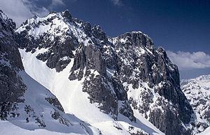 Goinger Halt - Hintere (right) and Vordere Goinger Halt (left) from the east from the Griesener Cirque