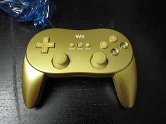 Classic Controller - Copies of Goldeneye 007 Classic Edition are bundled with a limited edition gold-colored Classic Controller Pro