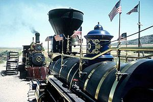 Golden Spike National Historic Site - Replicas of Union Pacific No. 119 and the Jupiter at Golden Spike NHS.