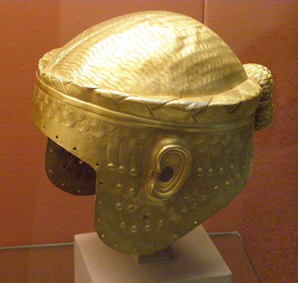 Golden helmet of Meskalamdug in the British Museum