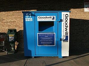 Goodwill Industries - Goodwill donation bin at a Safeway store