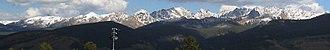 Gore Range - Image: Gore Range from Vail Mountain