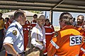 Governor-General of Australia, Quentin Bryce speaks with SES volunteers (1).jpg