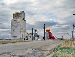Nobleford's now demolished grain elevators