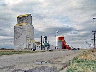 Nobleford - Nobleford's now demolished grain elevators