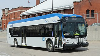 Grand River Transit - GRT Ion bus that will be used on BRT service. Currently operating on conventional route until opening of Ion.