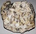 Graphic granite (runite) (Eight Mile Park Pegmatite District, Mesoproterozoic, 1.430 to 1.474 Ga; roadcut along 3A Road, north of Royal Gorge Bridge, west of Canon City, south-central Colorado, USA) 8 (48751181383).jpg