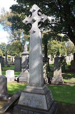 Grave of Alexander Keith Johnston, Grange Cemetery.JPG