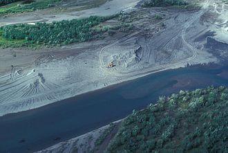 Noatak, Alaska - Gravel extraction in Noatak village