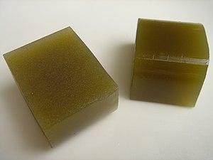 Yōkan - Cubes of green tea yōkan
