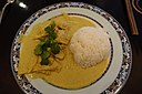 Green curry and rice, Mai Do, Montparnasse, Paris 001