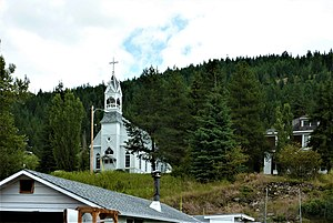 Greenwood, British Columbia - Image: Greenwood BC Roman Catholic Sacred Heart Church