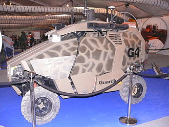 Unmanned ground vehicle - Guardium used by the Israel Defense Forces to operate as part of the border security operations