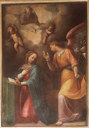 "Guglielmo Caccia - ""The Annunciation"" at St. Andrew's church (Alba, Italy)"