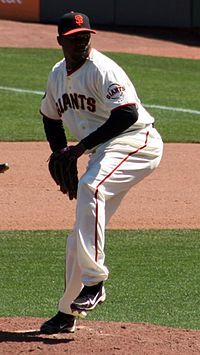 Mota in a San Francisco Giants uniform