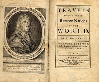 <i>Gullivers Travels</i> 1726 novel by Jonathan Swift