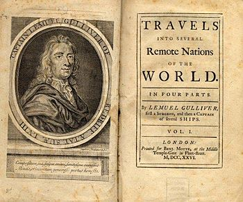 Title page of the first edition of Gulliver's Travels (1726)