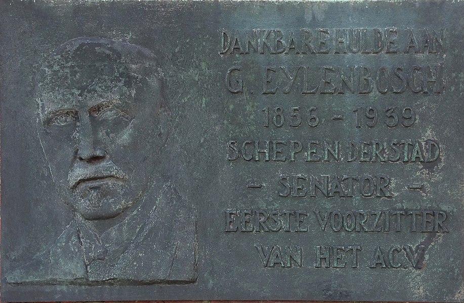 Gedenkplaat Gustaaf Eylenbosch in Gent