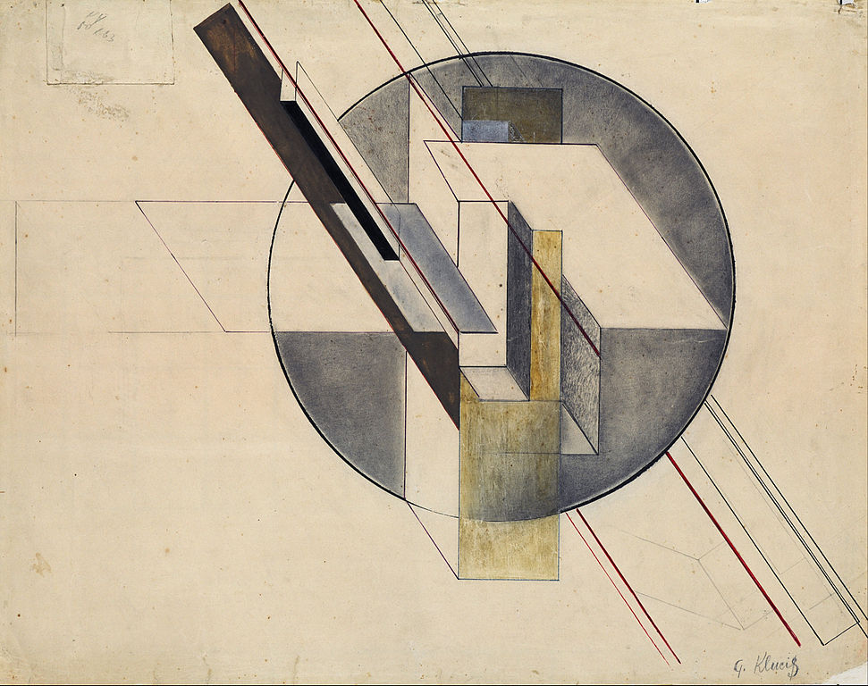 "Gustavs Klucis ""Construction"" (1921) - Musée National d'art à Riga."
