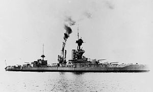 Cecil Burney - The battleship HMS ''Marlborough'', Burney's flagship at the Battle of Jutland