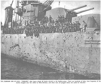 HMS Penelope (97) - Damage to Penelope June 1942