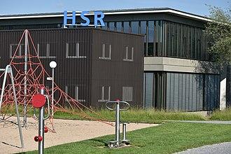 Hochschule für Technik Rapperswil - Image: HSR Rapperswil Seedamm 2015 05 27 17 56 17
