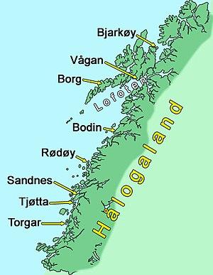 Thorolf Kveldulfsson - Halogaland. Torgar and Sandnes became Thorolf's estates.