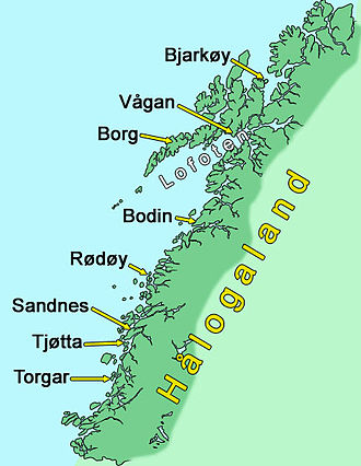 Hålogaland - Hålogaland around 1000 CE