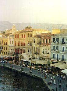 La Canea: case sul porto.