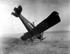 English: A German Hannover CL IIIa plane (s/n ...